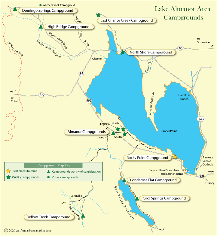 Lake Almanor Area Campground Map California S Best Camping