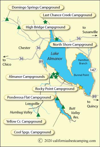 lake almanor fishing map Lake Almanor Campground Map lake almanor fishing map