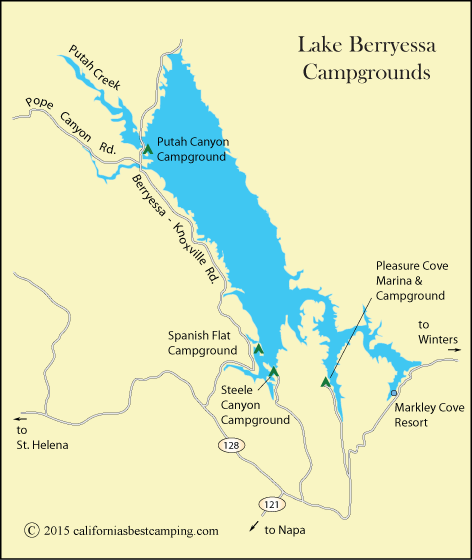 Lake Berryessa Fire Map.Pleasure Cove Campground Lake Berryessa