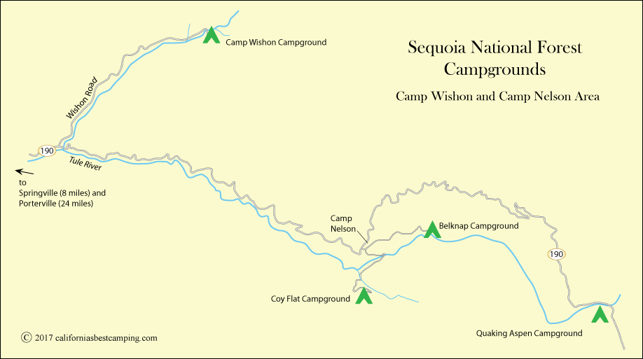 Wishon Campground - Sequoia National Forest