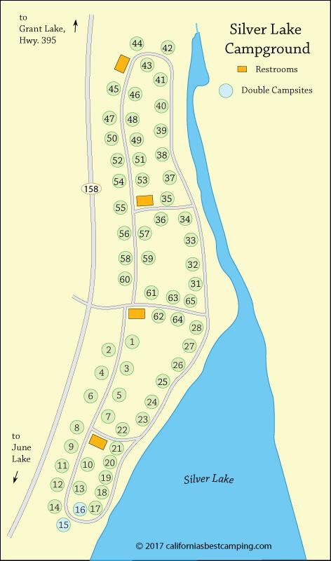 silver lake campground map Silver Lake Campground June Lake Loop silver lake campground map