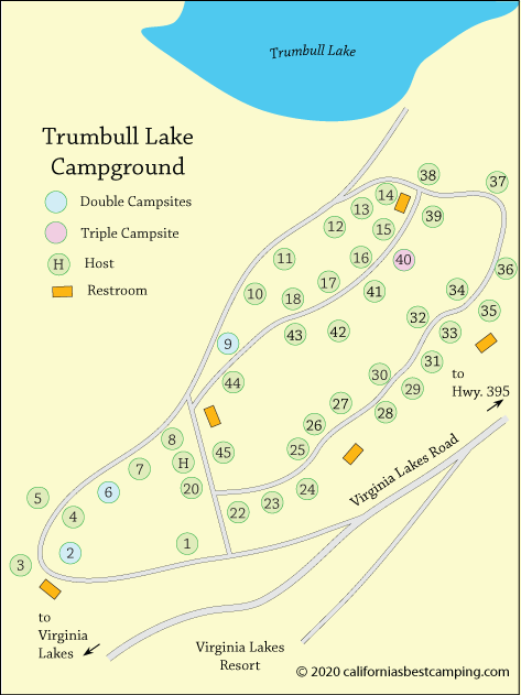 Trumbull Lake Campground Virginia Lakes