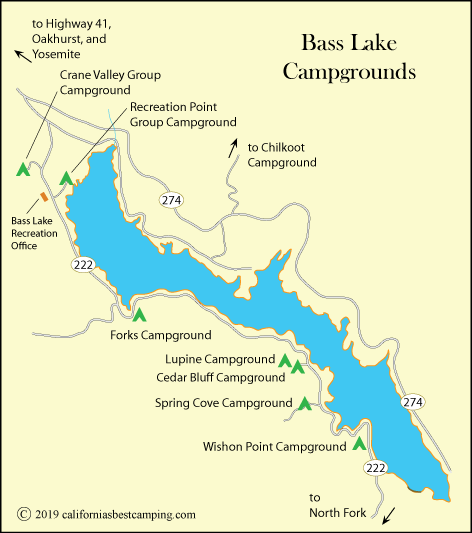 bass lake california map Bass Lake Camping California S Best Camping bass lake california map