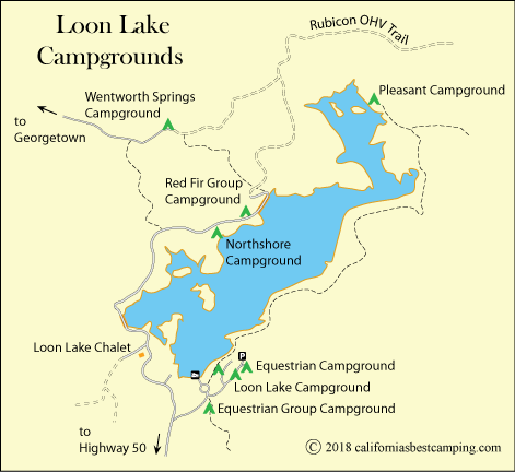 Northshore campground loon lake for Union valley reservoir fishing