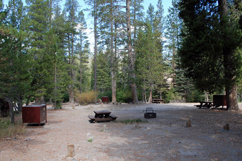 Reds Meadow Campground. map of campground locations around Mammoth Lakes ...