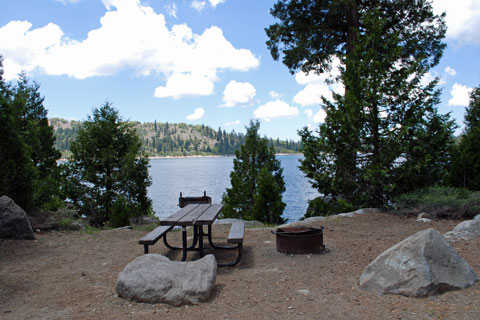 Strawberry point campground ice house reservoir for Union valley reservoir fishing