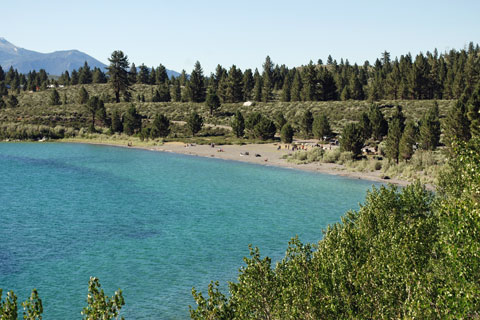 beach at Oh Ridge Campground, June Lake, CA