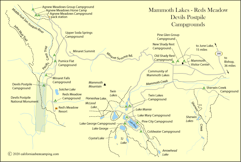 Twin Lakes Campground Mammoth Lakes