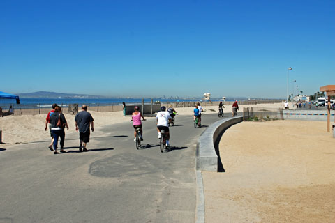 Bolsa Chica Bike Path At State Beach Ca