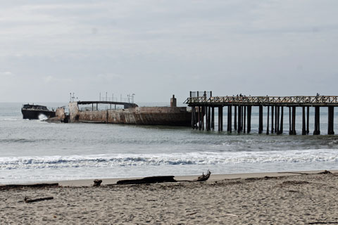 Concrete Ship At Seacliff State Beach Ca
