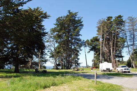 Campground At New Brighton State Beach Ca